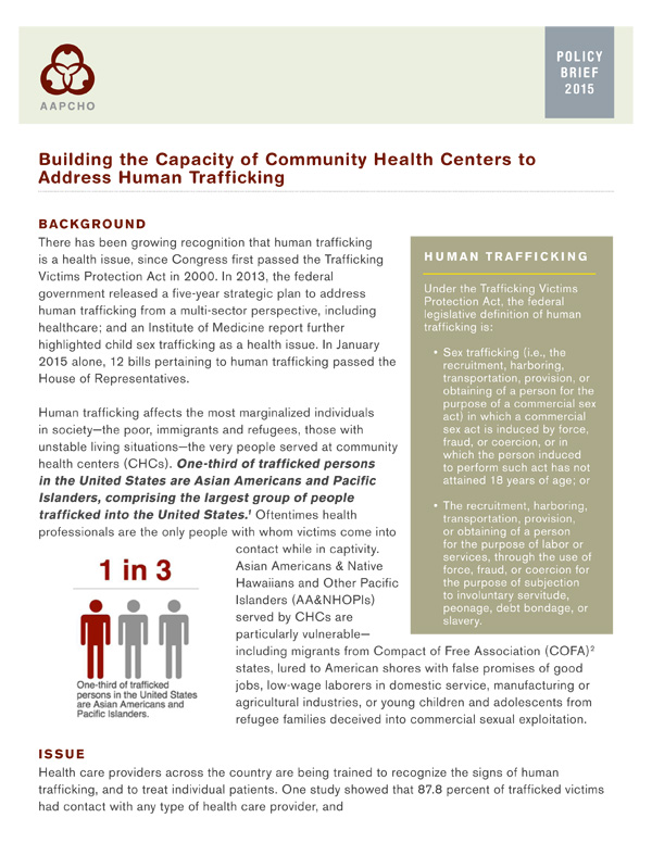 Building The Capacity Of Community Health Centers To Address Human